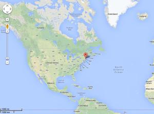 USA: oben links - hier liegt Boston