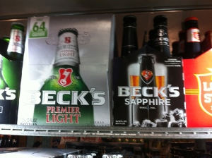 Becks Light und Saphire...