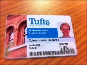 Tufts ID ist gleichzeitig auch Zahlungsmittel auf dem Campus