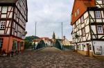 Blick auf die Alte Brücke über die Fulda