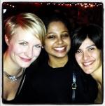 Deepti (aus Indien) und Maria Rita (aus Brasilien), meine besten Freundinnen