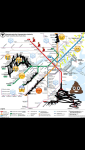"""While we were in Canada, the worst snow storm had hit Boston. When the public transportation system, MBTA announced that they would be on a limited schedule for at least 30 days, this """"new"""" map appeared in the social media."""