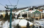 This is Mt. Tremblant Base Station, a cute town centre