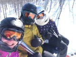 It all looks good in the picture, but, honestly,  this selfie caused at least 10minutes of sharp frozen finger pain!