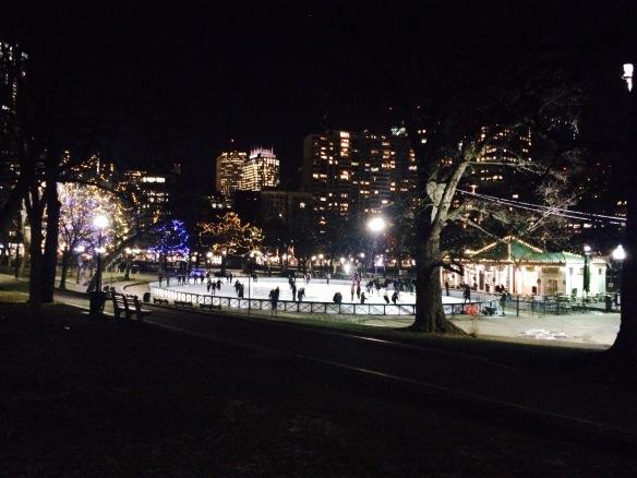 Eisbahn im Boston Commen
