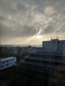 Dizzy sunrise over Kassel